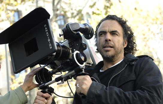 Biutiful movie director Alejandro Gonzalez Inarritu behind the scenes during the filming of his latest film staring Javier Bardem