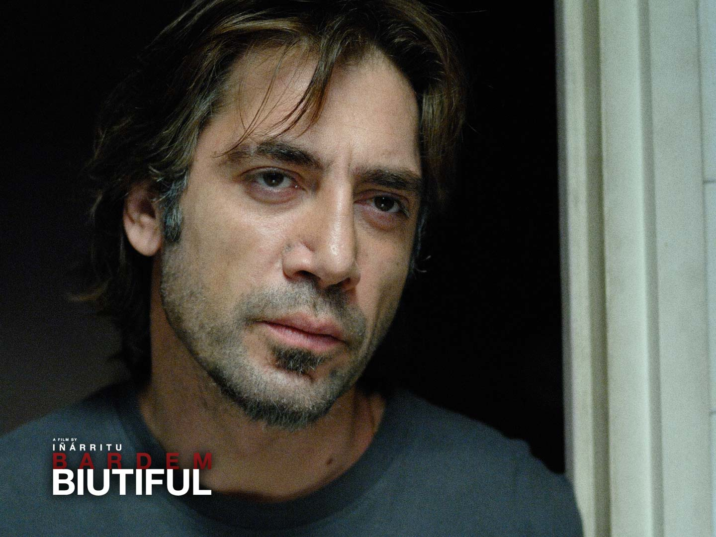Biutiful Wallpaper download - Javier Bardem in a close-up for Biutiful, made into a wallpaper from a still & his Cannes Best Actor winning performance for the new movie